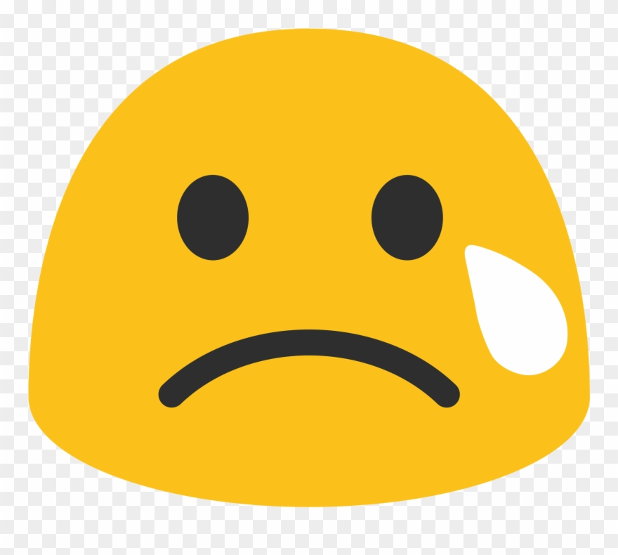 Stressed face clipart svg Stressed Emoji Png Clip Art Free Stock - Sad Blob Emoji ... svg
