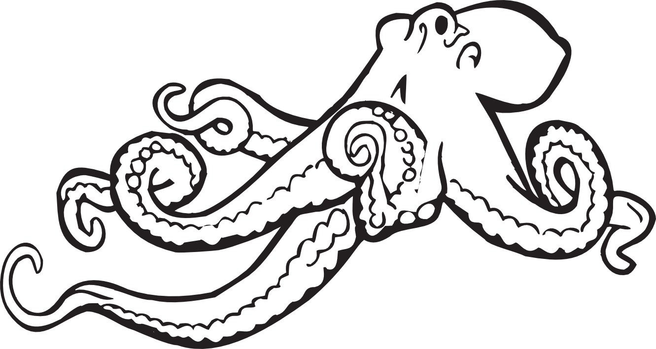 X ray fish clipart black and white picture library Octopus Clipart Black And White | Clipart Panda - Free Clipart ... picture library