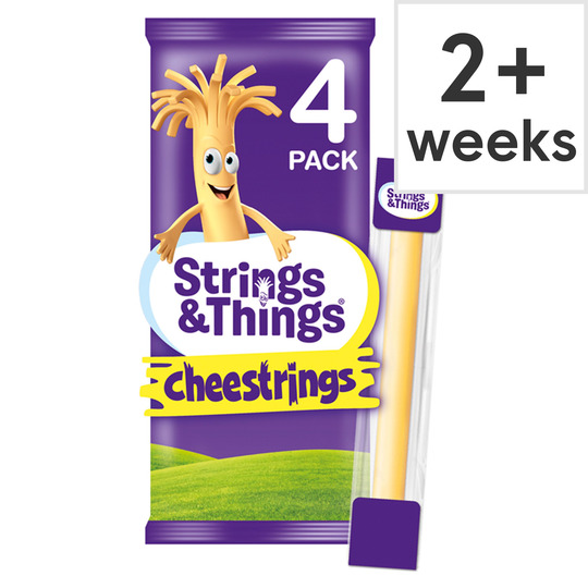 Stringy cheese clipart jpg royalty free download Cheestrings Cheddar 4 Pack 80G jpg royalty free download