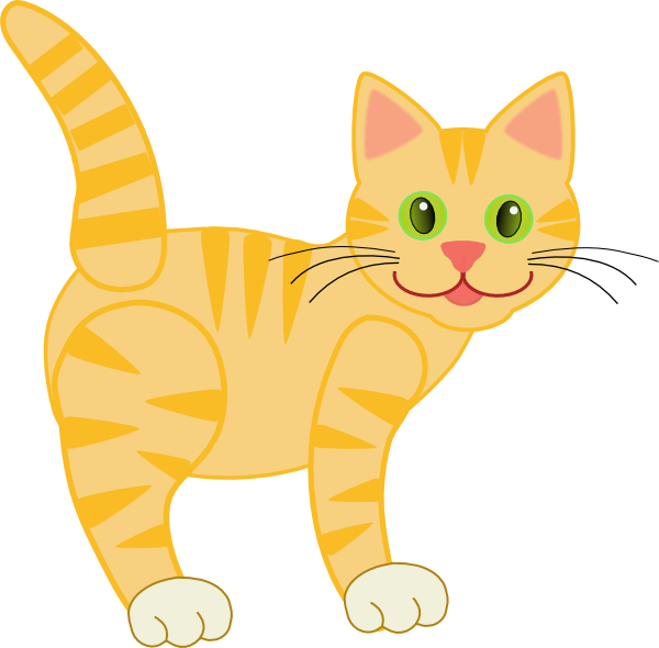 Striped cat clipart image free Yellow Striped Cat Clip Art at Clker.com - vector clip art online ... image free