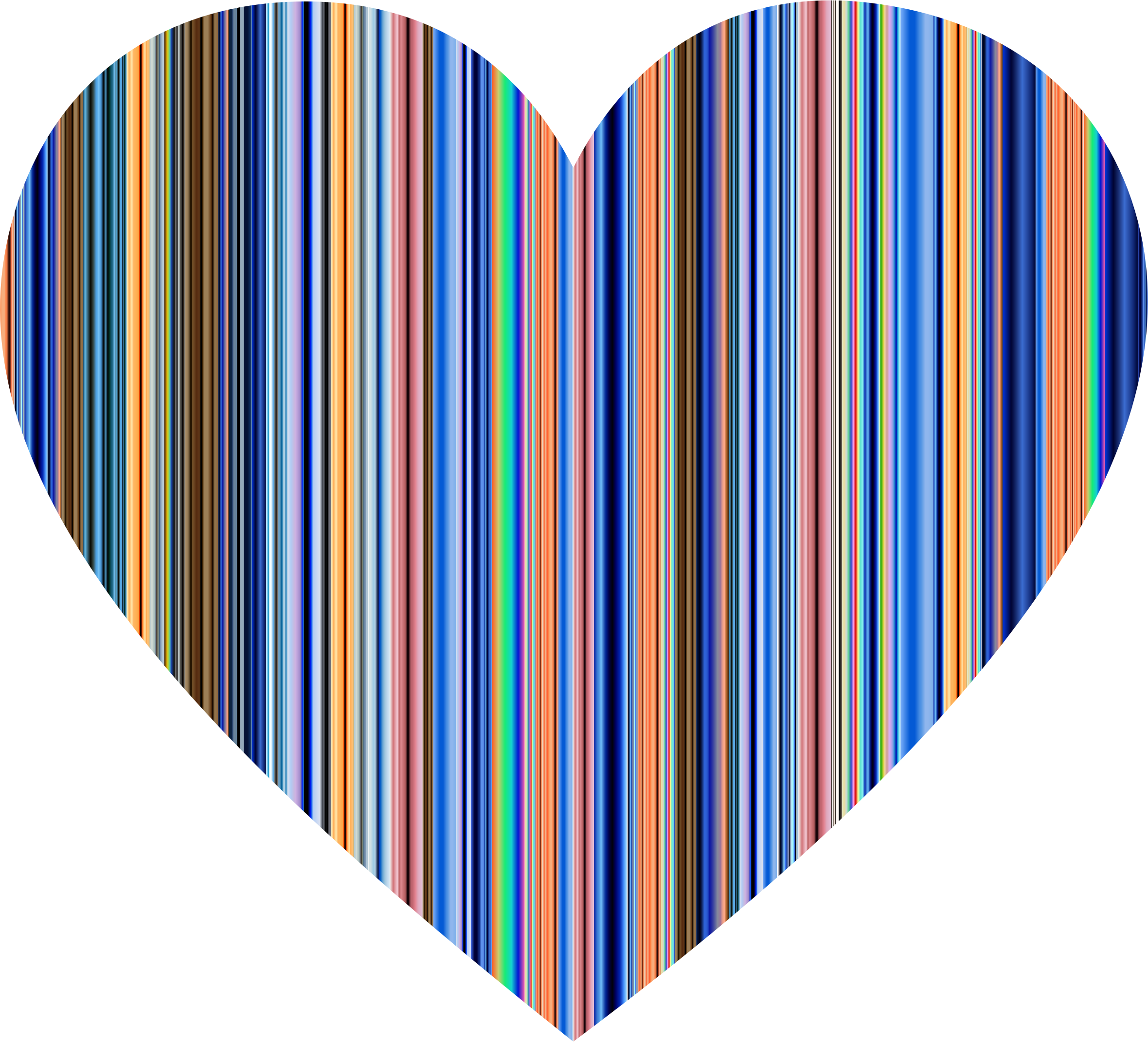Striped heart clipart graphic transparent stock Clipart - Colorful Striped Heart graphic transparent stock