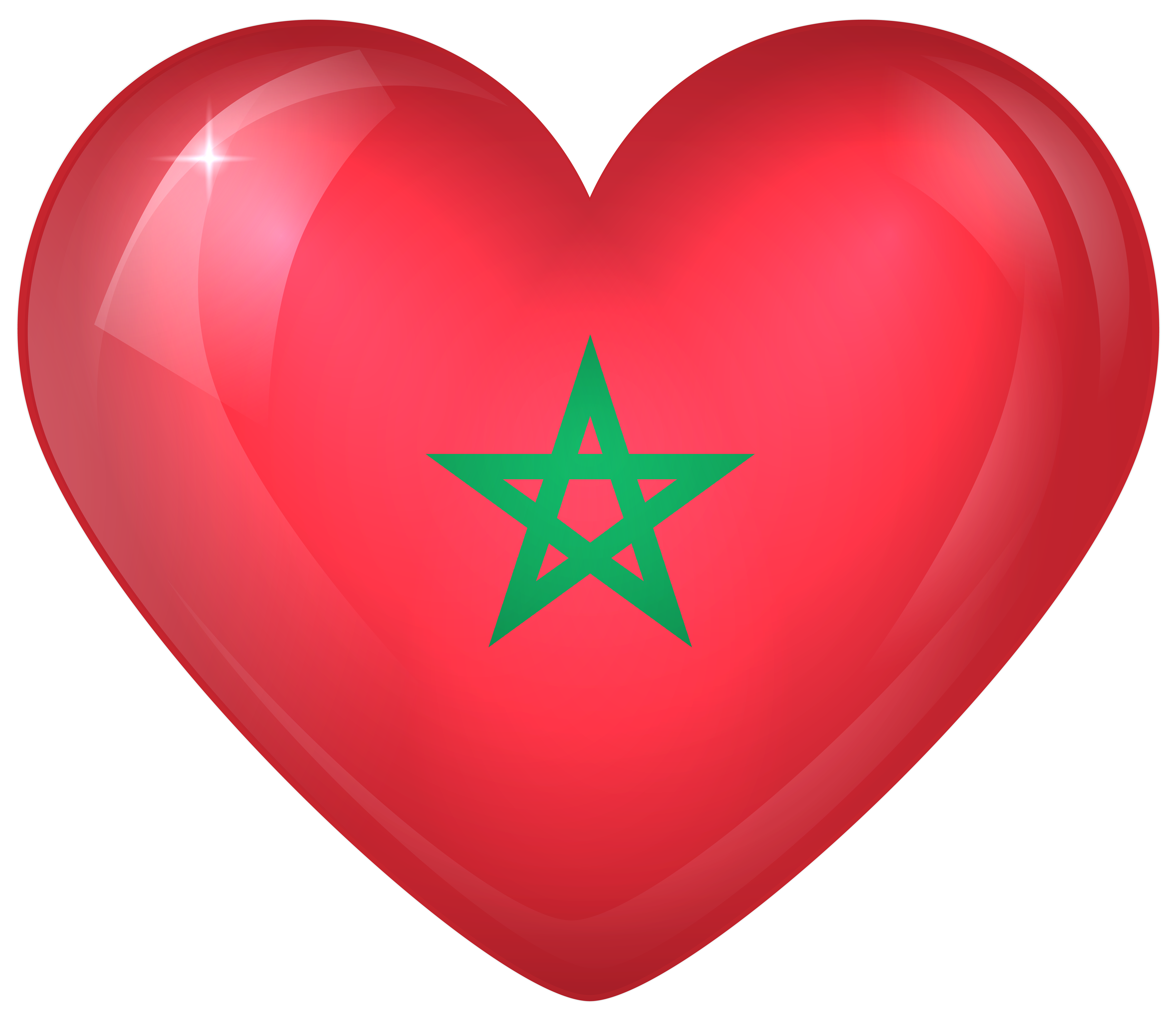 Striped heart clipart graphic free download Morocco Large Heart Flag | Gallery Yopriceville - High-Quality ... graphic free download