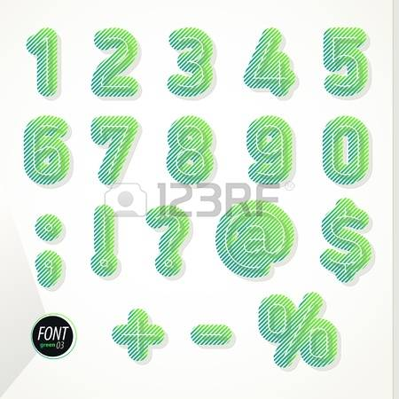 Striped number 1 clipart picture free stock 86 Slanted Numbers Stock Vector Illustration And Royalty Free ... picture free stock