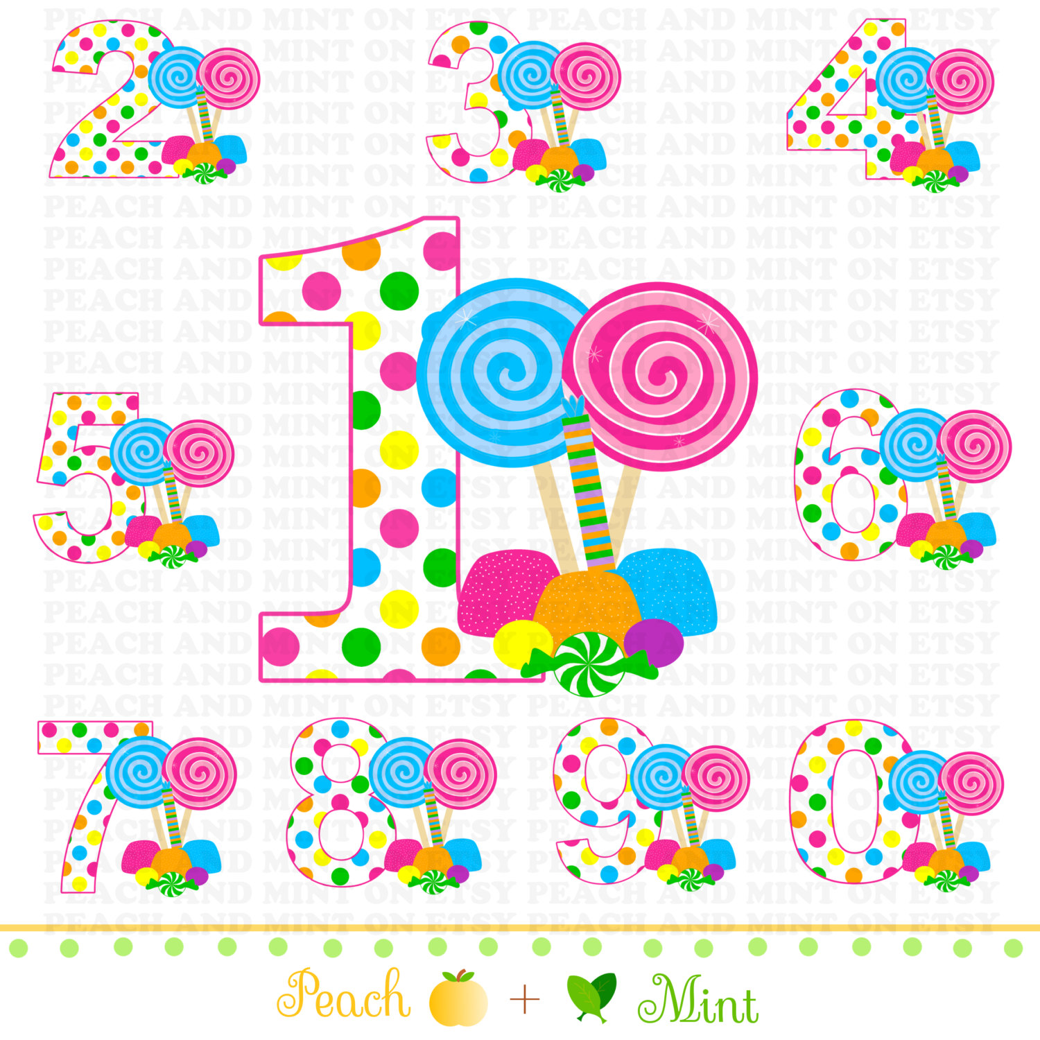 Striped number 1 clipart clipart black and white library Lollipop clip art free download - ClipartFox clipart black and white library