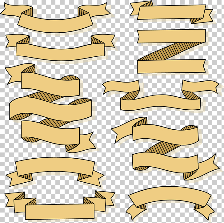 Striped ribbon banner clipart
