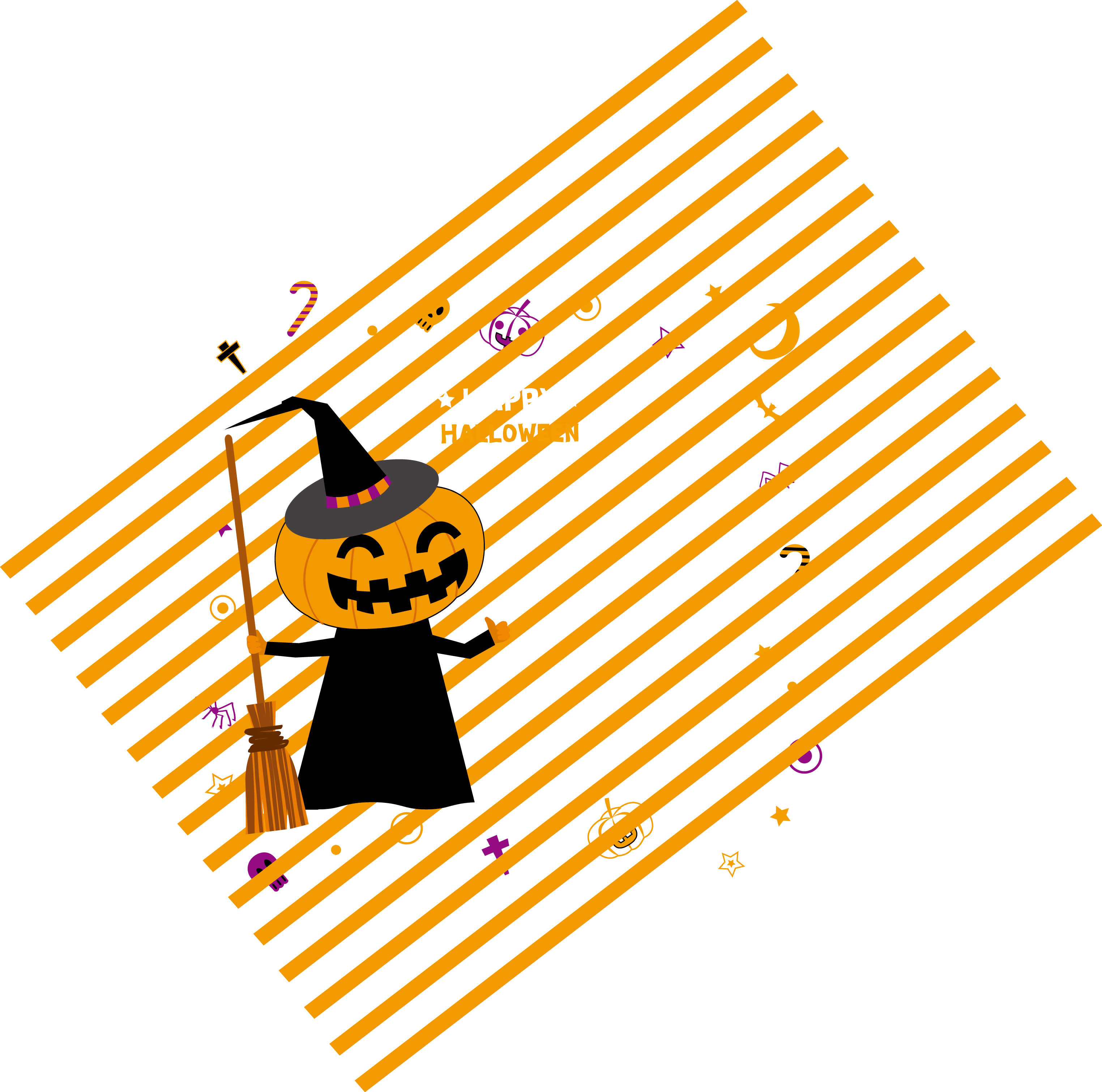 Stripy pumpkin clipart picture download Calabaza Pumpkin Halloween - Yellow stripe background pumpkin ... picture download