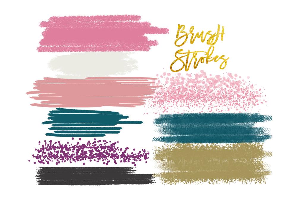 Stroke clipart clip art free stock Digital watercolor brush strokes, acrylic brush, digital brush stroke,  digital brush stroke, brush strokes clipart set, elements clipart clip art free stock