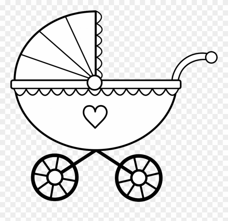 Stroller clipart black and white clip art royalty free Download Baby Stroller Coloring Page Clipart Colouring ... clip art royalty free