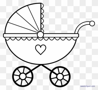 Stroller clipart black and white banner free download Free PNG Baby Carriage Images Clip Art Download - PinClipart banner free download