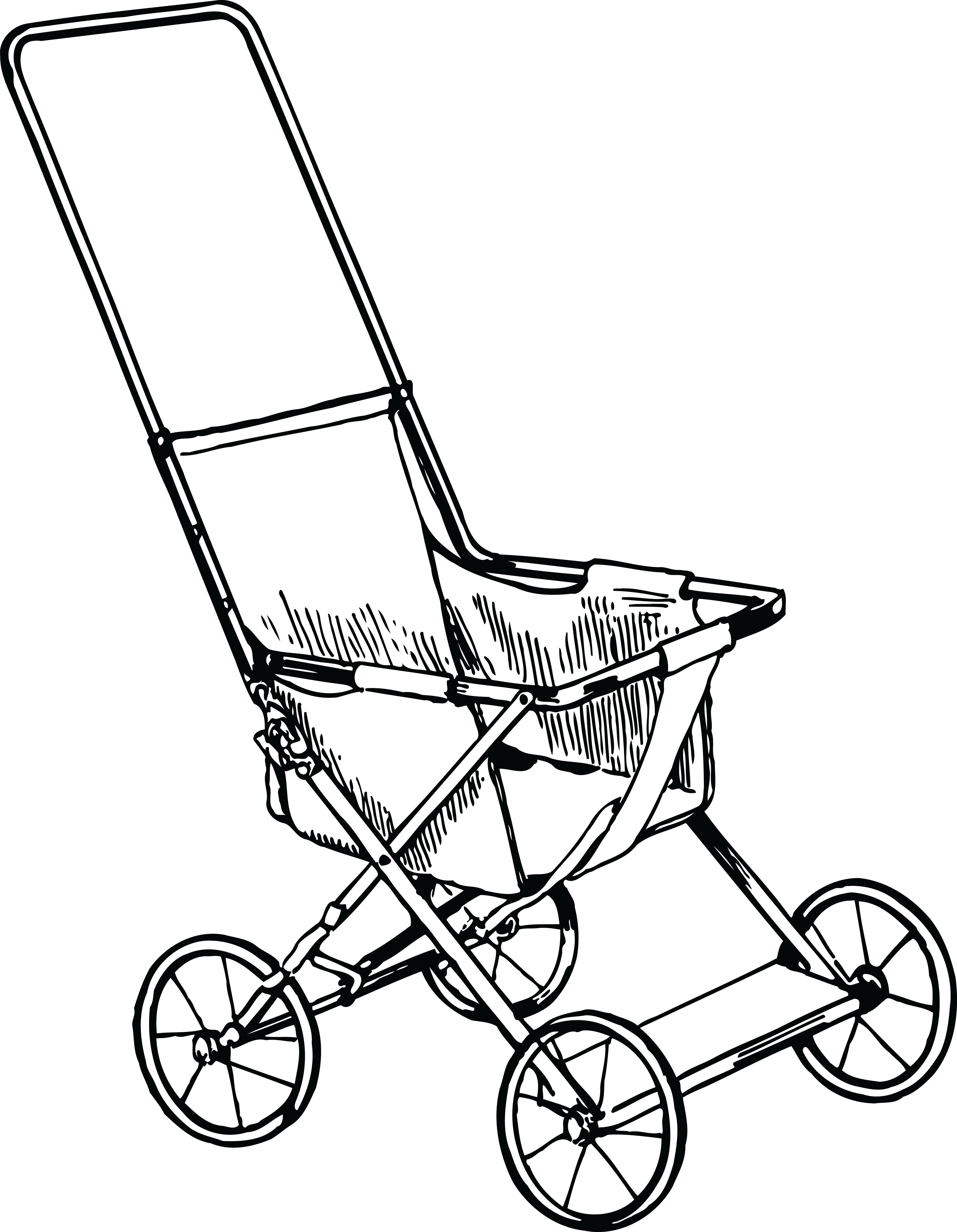 Stroller clipart black and white clip transparent download Stroller clipart black and white 2 » Clipart Portal clip transparent download