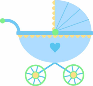 Strollers clipart image freeuse Baby Stroller Clipart | Free Images at Clker.com - vector ... image freeuse