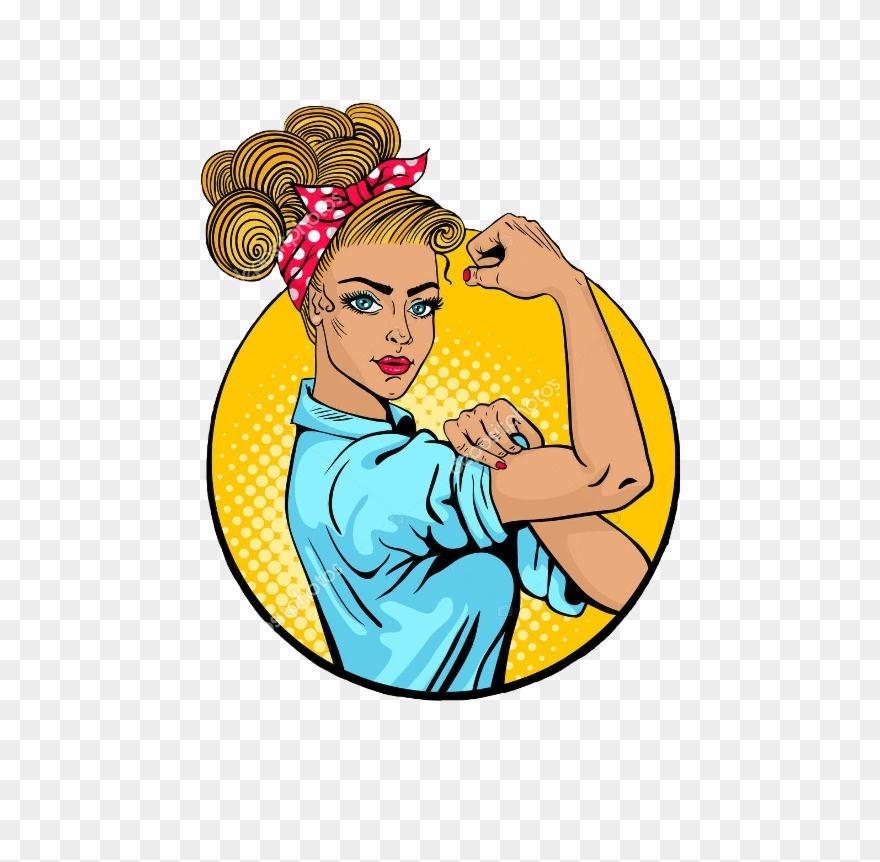 Strong girl clipart vector library Strong Woman Pop Art Clipart (#1044214) - PinClipart vector library