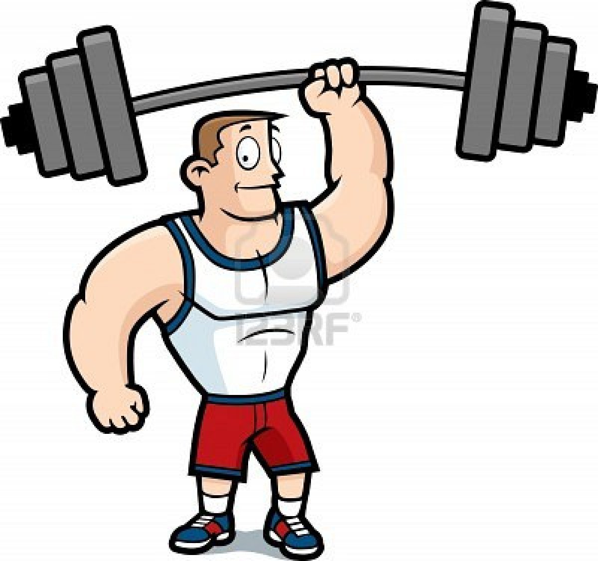 Weightlifting with one arm clipart jpg transparent library Strong Clipart - Free Clipart jpg transparent library
