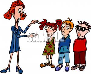Student and teacher talking clipart graphic A School Teacher With A Group Of Students - Royalty Free ... graphic