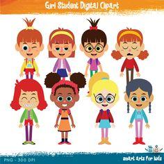 Student artwork clipart clip library download Boy Student Digital Clipart, school clipart, back to school ... clip library download