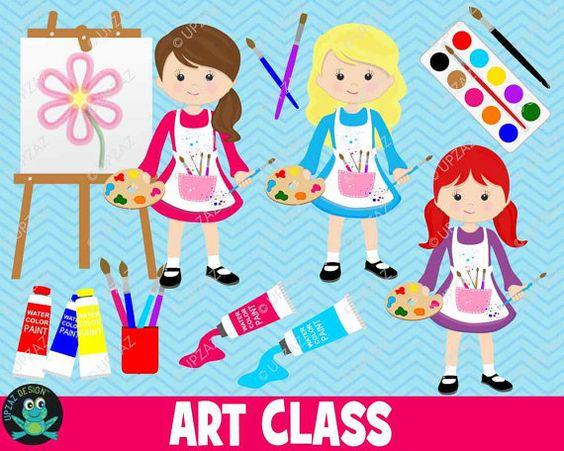 Student artwork clipart jpg royalty free download Art Class Clipart, Painting Clipart, Teacher, Student, Artist Clip ... jpg royalty free download