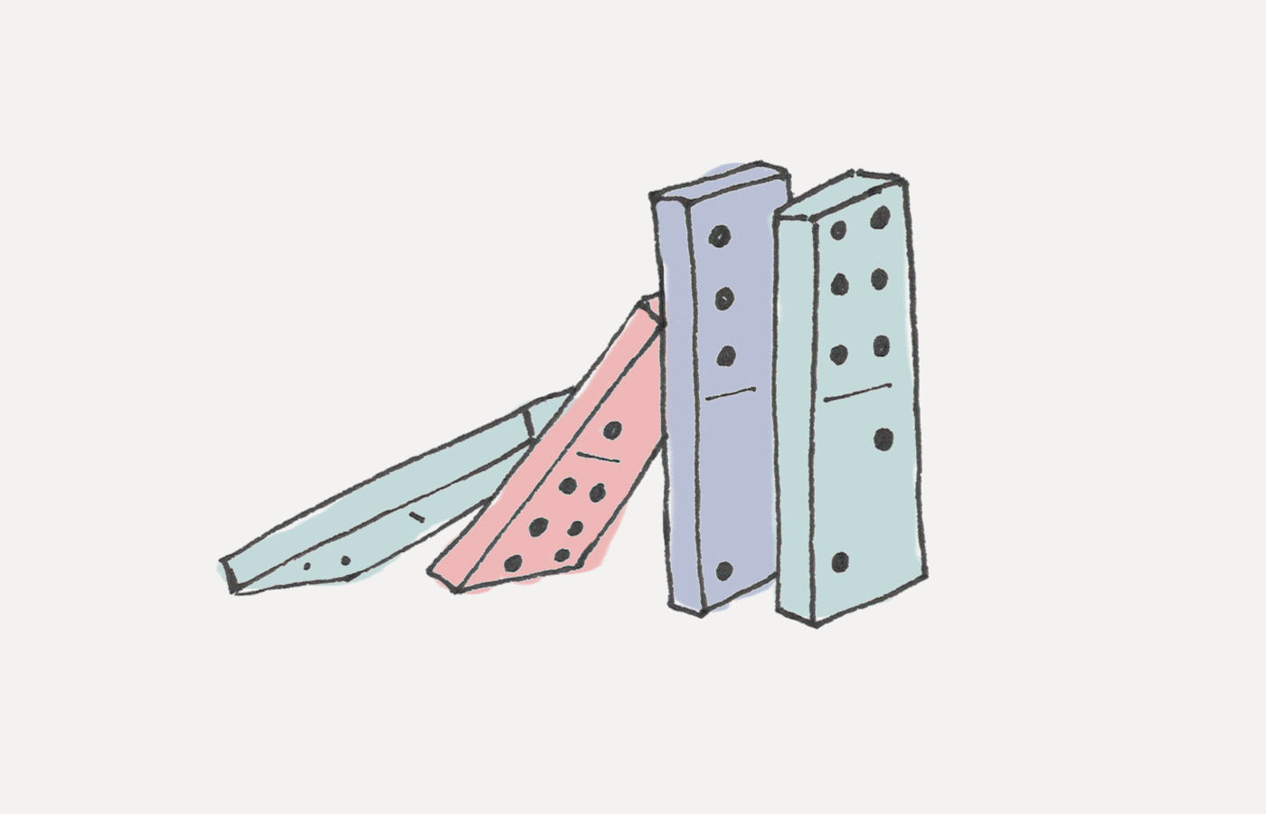 Student clipart domino vector The Domino Effect: How to Create a Chain Reaction of Good Habits vector