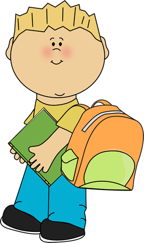 Student going to school clipart royalty free Boy going to school from MyCuteGraphics | School Kids Clip ... royalty free