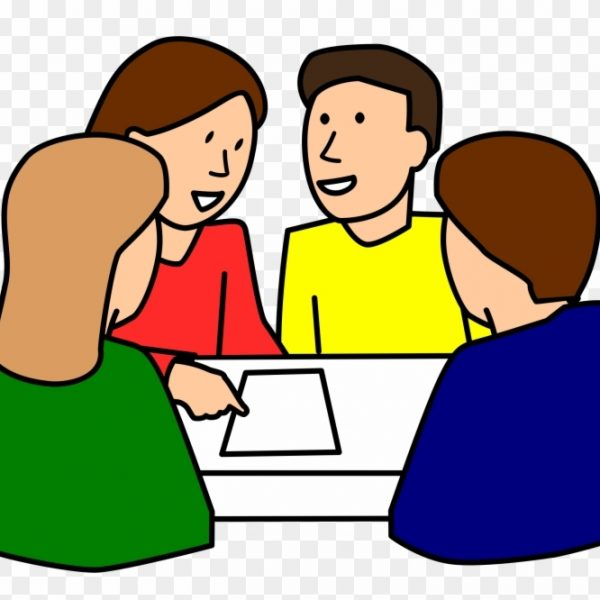 Student group clipart vector library stock Student Working Students Working In Groups Clipart – Group ... vector library stock