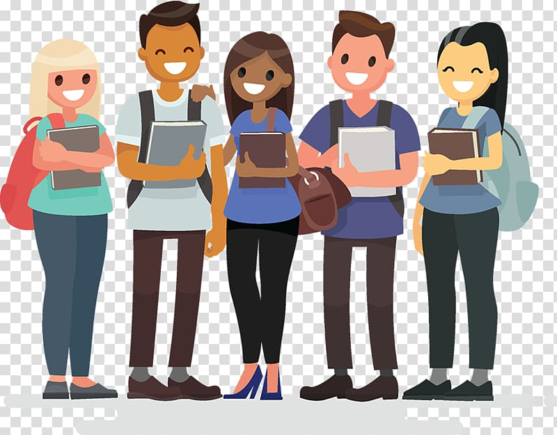 Student group clipart banner freeuse stock Illustration of people holding books, Student group Student ... banner freeuse stock