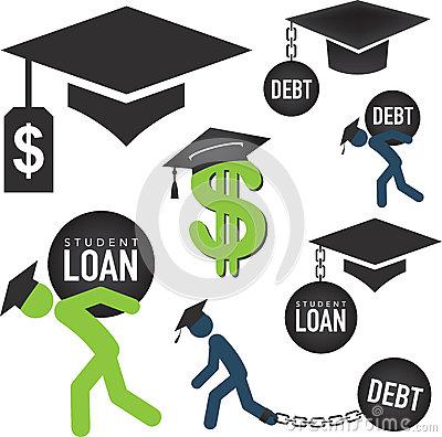 Student loan clipart jpg transparent download Student Loan Burden Stock Vector - Image: 43938529 jpg transparent download