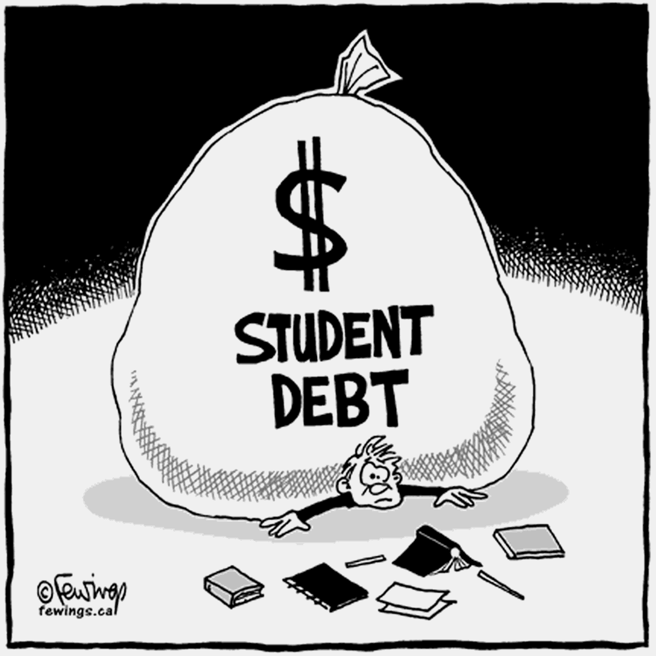 """Student loan paid clipart banner black and white library The """"Real"""" Income Issue Lurking Behind Student Debt and the """"Pay ... banner black and white library"""