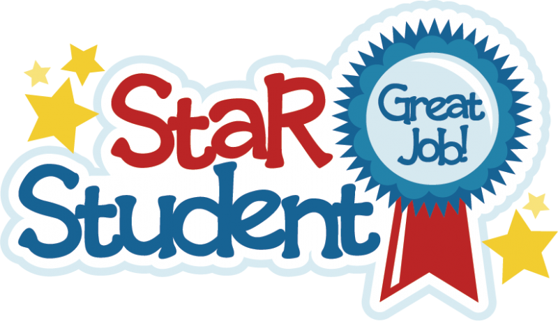 Super star student clipart picture black and white library Student of the month clip art - ClipartFest picture black and white library