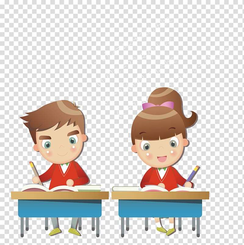 School exam clipart png free library Boy and girl writing on notebook, Malaysia Test Education ... png free library
