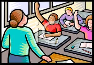 Student raising hand carpet in classroom clipart clipart stock Students Raising Their Hand In Class - Royalty Free Clipart ... clipart stock