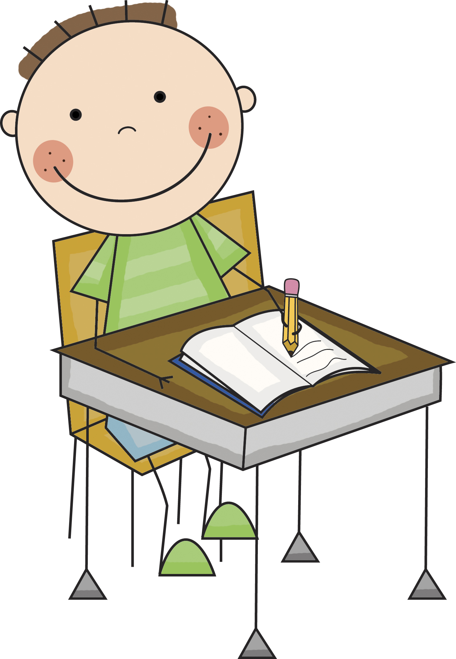 Student washing tables clipart image free stock Work at the tables clipart - ClipartFest image free stock