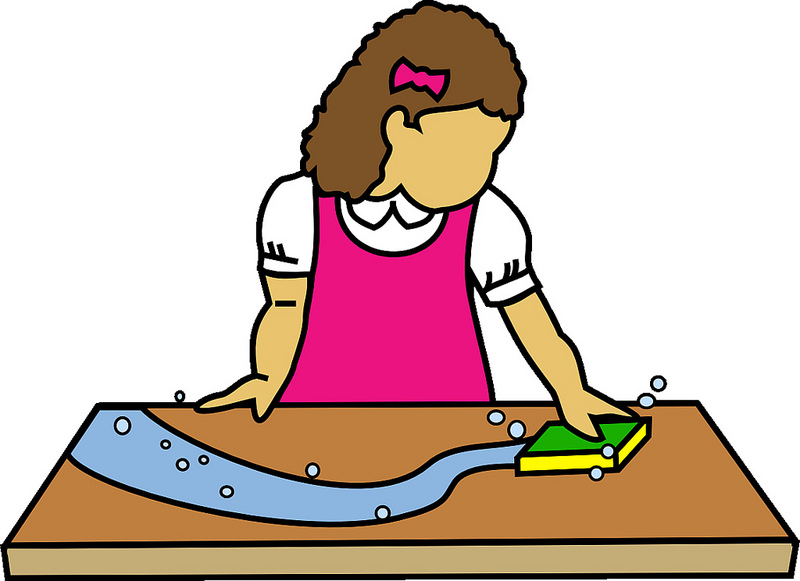 Student washing tables clipart clip art royalty free library Cleaning the table clipart - ClipartFox clip art royalty free library