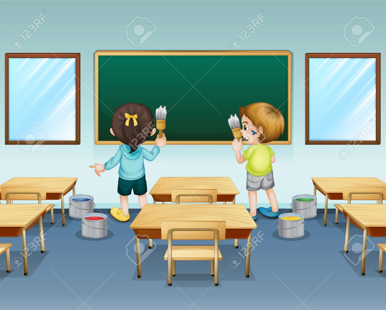 Student washing tables clipart clip art royalty free stock Classroom cleaning clipart - ClipartFest clip art royalty free stock