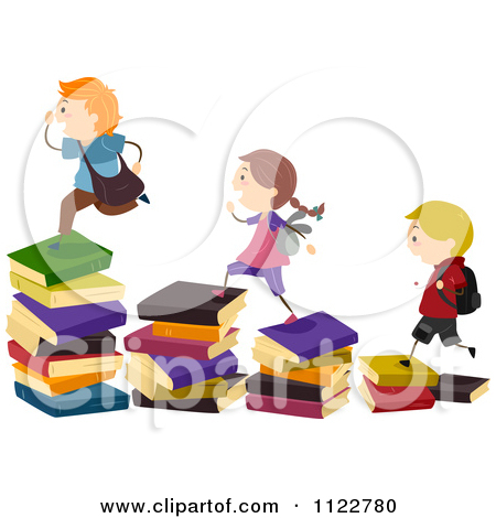 Student with 5 books clipart picture free library Royalty Free Stock Illustrations of School Books by BNP Design ... picture free library