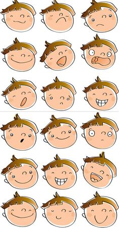 Student with big nose clipart graphic black and white download Kids in Action: Faces 2 Clip Art 18 FREE pngs to Show Feel ... graphic black and white download