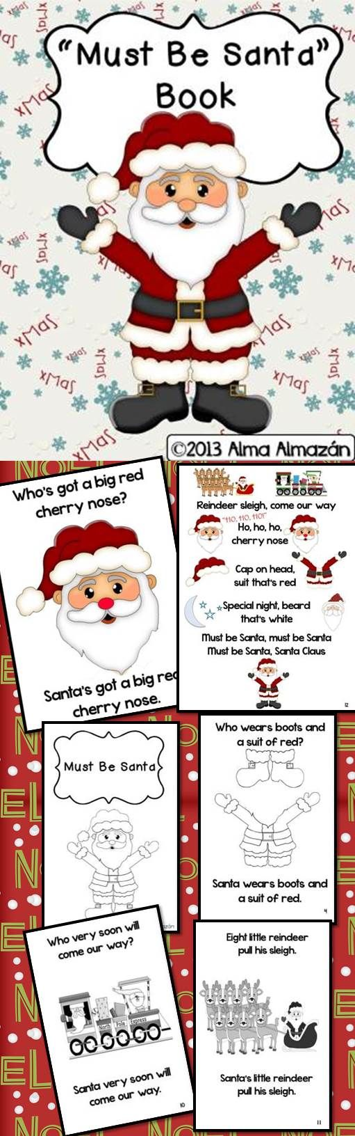 Student with big nose clipart clipart royalty free library Must Be Santa Teacher Big Book and Student Little Reader ... clipart royalty free library