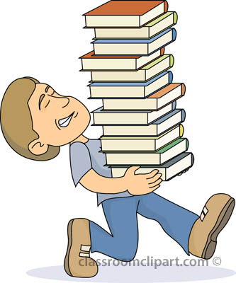 Student with books clipart clip free Book clipart student - ClipartFest clip free