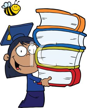 Student with books clipart graphic library Book Image Graduate Student Carrying Books Clipart Free Clip Art ... graphic library
