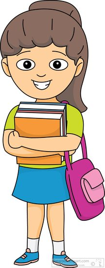 Student with books clipart clip black and white Book Clipart : student-carries-books-in-arms-with-bag-clipart ... clip black and white