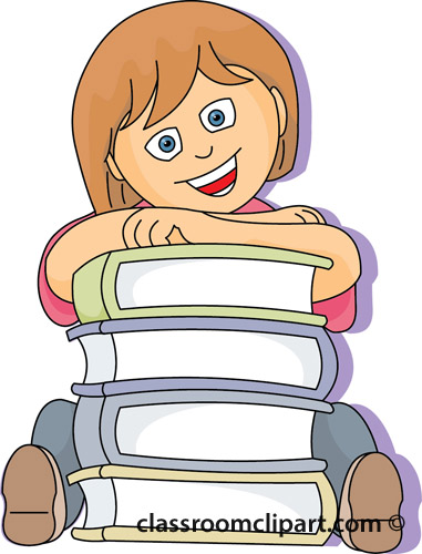 Student with books clipart clip art freeuse download Book Clipart : student_books_school_29A : Classroom Clipart clip art freeuse download