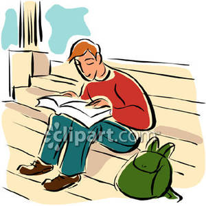 Student with books clipart clip art free library Student Reading Book Clipart - Clipart Kid clip art free library