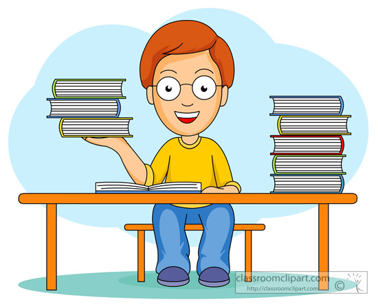 Student with books clipart png black and white stock Book clipart student - ClipartFest png black and white stock