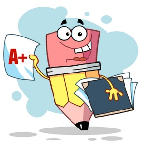 Student with books clipart clip art royalty free Student Clipart Image - Pencil student holding books and report ... clip art royalty free
