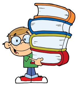 Student with books clipart picture black and white download Book clipart student - ClipartFest picture black and white download