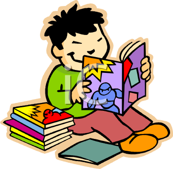 Student with books clipart graphic library download Royalty Free Clip Art Image: Asian Elementary Student Reading a Book graphic library download