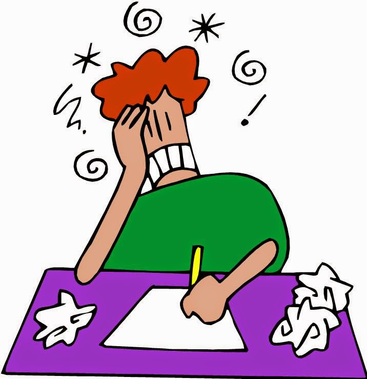 Student writers block clipart png library stock writer block homework png library stock
