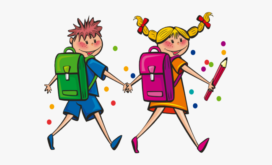 Kids holding hands backpacks on clipart banner royalty free stock Students Cliparts - Clip Art Kids With Backpacks #808831 ... banner royalty free stock
