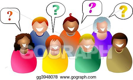 Students asking questions clipart clip art freeuse stock Stock Illustration - Group questions. Clipart gg3948078 ... clip art freeuse stock