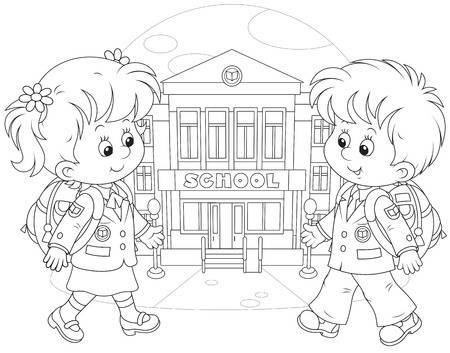 Students at school clipart black and white transparent Students going to school clipart black and white 4 » Clipart ... transparent