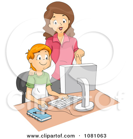 Students in computer lab clipart image transparent library Royalty-Free (RF) Computer Lab Clipart, Illustrations, Vector ... image transparent library