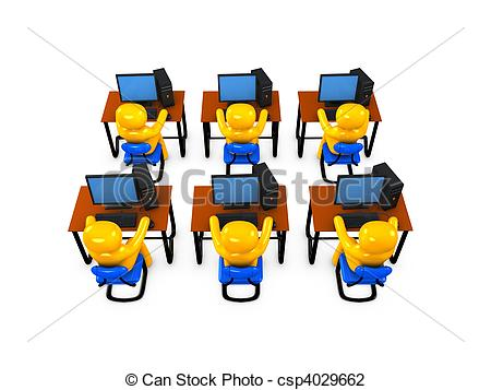 Students in computer lab clipart clip art transparent Clipart computer lab - ClipartFest clip art transparent